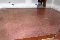 Dining Room Floor Stamp n Stain