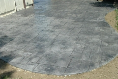 Ashlar Slate Pattern Stamped Patio