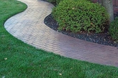 Stamped Sidewalk w.Paver Look